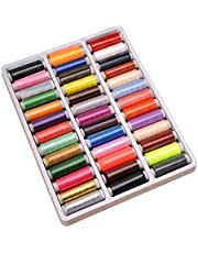39 Mixed Colors Pure Polyester Sewing Thread Machine Hand 200 Yard Each Spool Knitting Threads Cones DIY Sewing Accessories