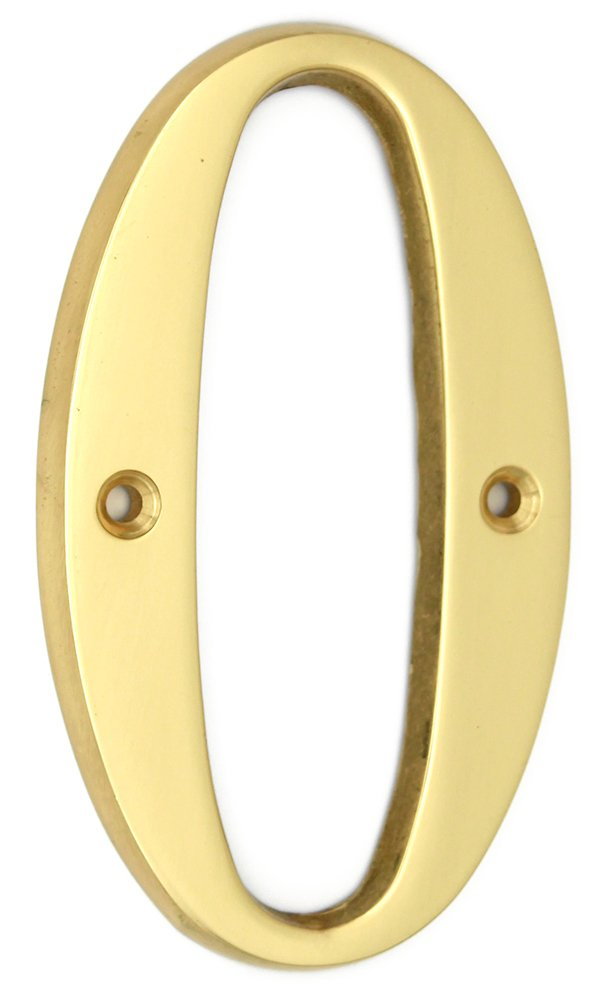 ZW Hardware A100 4 Inch Bright Brass House Number 1 Ltd