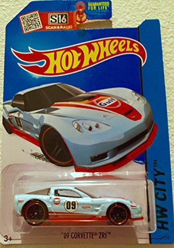Hot Wheels, 2015 HW City, '09 Corvette ZR1 [Gulf Oil Ligh...