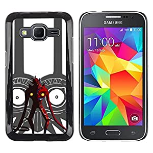 LECELL--Funda protectora / Cubierta / Piel For Samsung Galaxy Core Prime -- Tribal Red Devil --