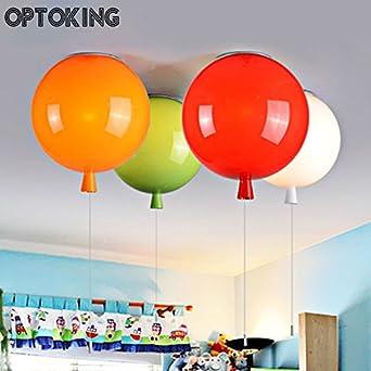 Lilamp Ballon Deckenlampe Kinderzimmer Leuchten Kid Deckenbeleuchtung Lampe Fur Wohnzimmer Rot 30 Cm