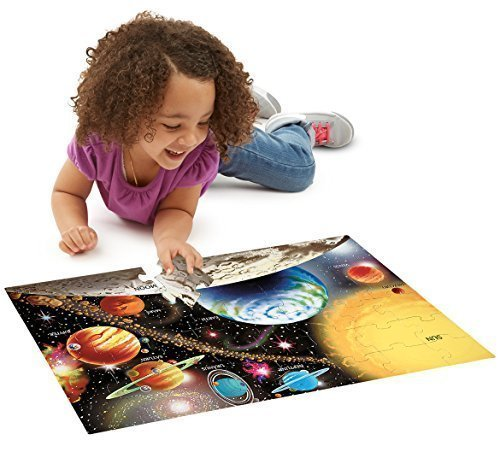 Solar System: 48-Piece Floor Puzzle + FREE Melissa & Doug Scratch Art Mini-Pad Bundle [04138]