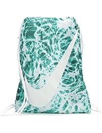 Young Athlete Drawstring Gymsack Backpack Sport Bookbag (Emerald Splash  Graphics White Signature Large Brand 25567190bd903