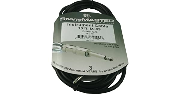 """LOT of 3 Three Pro Co SEG-20 StageMASTER 1//4/"""" Guitar Instrument Cable 20 ft."""