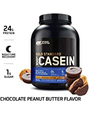 OPTIMUM NUTRITION GOLD STANDARD 100% Micellar Casein Protein Powder, Overnight Muscle Recovery, Chocolate Peanut Butter, 64.1 Ounce