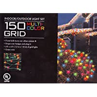 150 Grid Multicolor Christmas Holiday House or Net Lights by Living Solutions Holiday