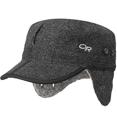 Outdoor Research Yukon Cap, Charcoal Herringbone, - Wool Two Button Herringbone