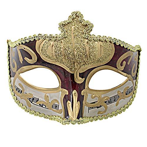 (Hophen Mardi Gras Half Masquerades Venetian Eye Masks Halloween Dance Party Costumes Dark)