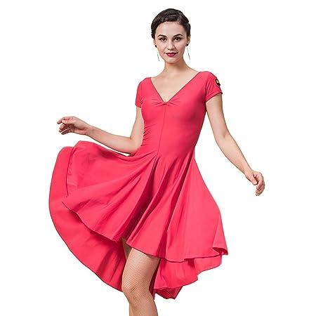 JIANPING Ropa de Baile Falda de Baile Latino Vestido de Mujer ...