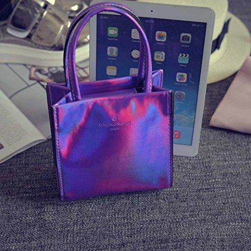 Handbag,Han Shi Fashion Women Shoulder Bag Modern Tote Ladies Purse Casual Party Bags (Purple, M)