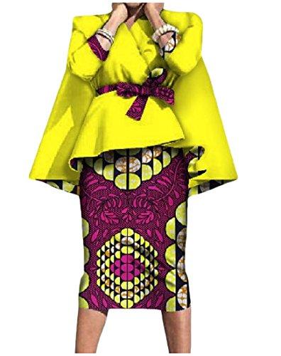 women Tailleur Con Yellow Abito Tootlessly Donna 1Rw4q
