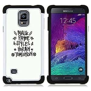 - white black god fashion text abstract - - Doble capa caja de la armadura Defender FOR Samsung Galaxy Note 4 SM-N910 N910 RetroCandy