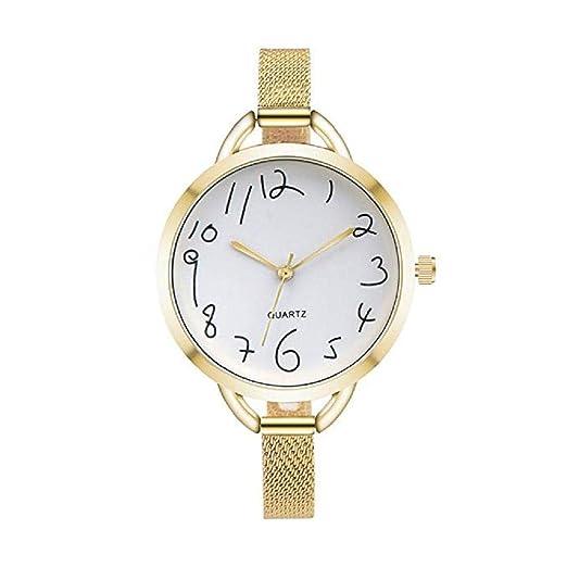 Scpink Relojes de Cuarzo de Las Mujeres de liquidación Relojes de Mujer a la Venta Relojes de Cuarzo de señora Relojes de Acero Inoxidable (Oro): Amazon.es: ...
