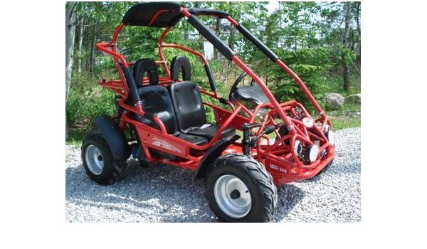 Amazon com: TRAILMASTER XRX MID-SIZE 200cc KIDS GO KART- RED