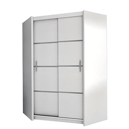 Mirjan24 Eckkleiderschrank Vista, Eckschrank mit 5 Einlegeböden und  Kleiderstange, Drehtürenschrank für Schlafzimmer, Jugendzimmer,  Kleiderschrank ...