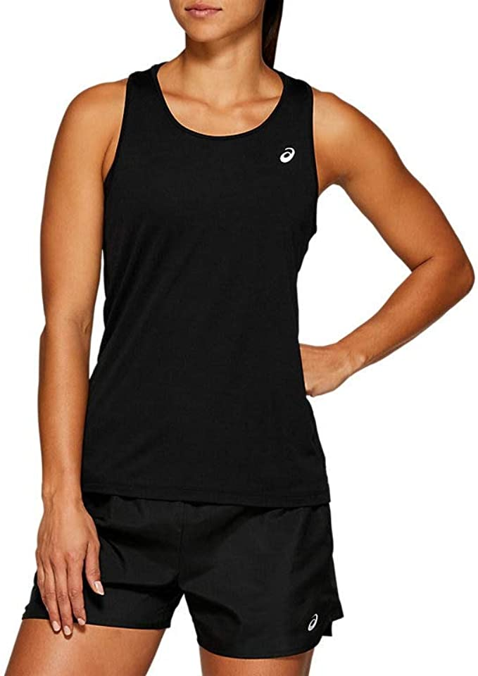 Camiseta de Tirantes para Mujer Talla S ASICS Color Negro