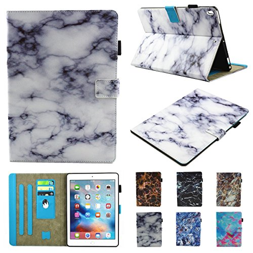 inShang iPad iPad Pro 10.5 Fundas soporte y carcasa para iPad Pro 10.5 inch ((2017 Release) , smart cover PU Funda con Patrón de Diamante + clase alta 2 in 1 inShang marca negocio Stylus pluma White marble