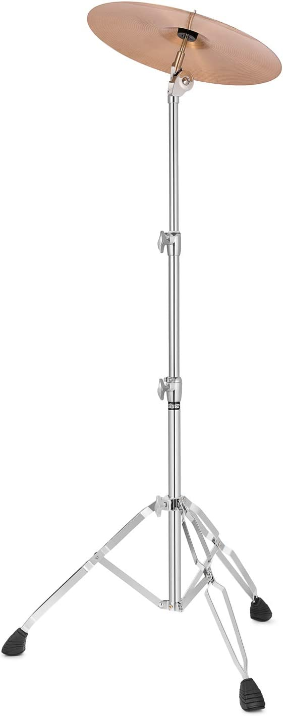 Starfavor Straight Cymbal Stand Double Braced Support Adjustable Height 22-49