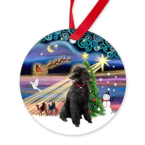 - CafePress Xmas Magic - Black Poodle (ST) Ornament (Round) Round Christmas Ornament