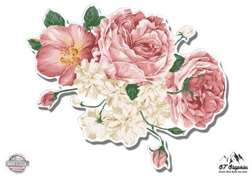 Flower Bouquet Vintage Style Pretty Roses Floral - 8