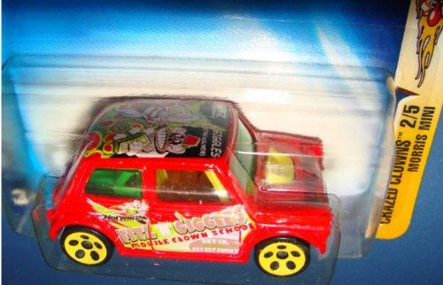 Hot Wheels 2003 Crazed Clowns Morris Mini Cooper 2/5 #096 #96 RED 1:64 -