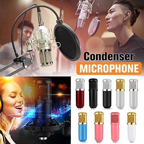 Live streaming Microphone Sound Studio Dynamic Mic +Shock Mount Condenser Pro Audio BM800 For Windows Mac (White) by Liu Nian (Image #3)