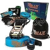 Trailblaze Slackline Kit with Tree Protectors, Ratchet...