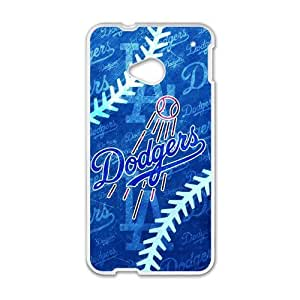 Forever Collectibles Los Angeles Dodgers Rugged Dual Hybrid Custom Case for HTC One M7