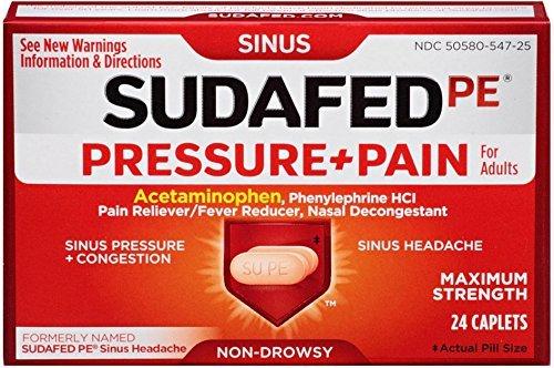 sudafed pe pressure + pain - 9