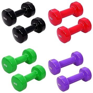 vidaXL 8X Mancuernas de Hierro Fundido Gimnasio Fitness ...