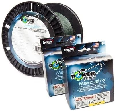 PowerPro 33401001500E MaxCuatro Spectra HT Braided Fishing Line