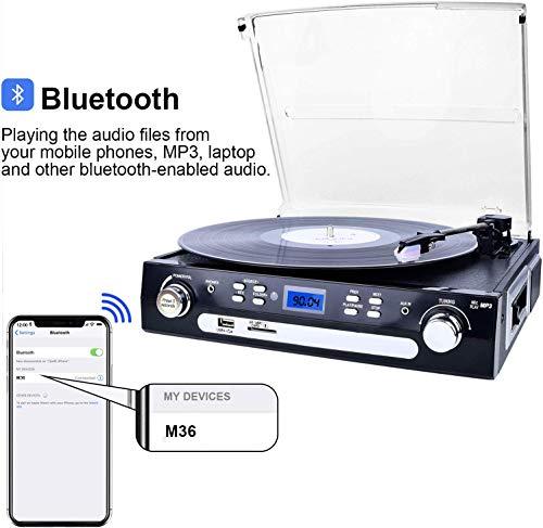 DIGITNOW! Tocadiscos Bluetooth con Estéreo Altavoces , 33/45/78 ...