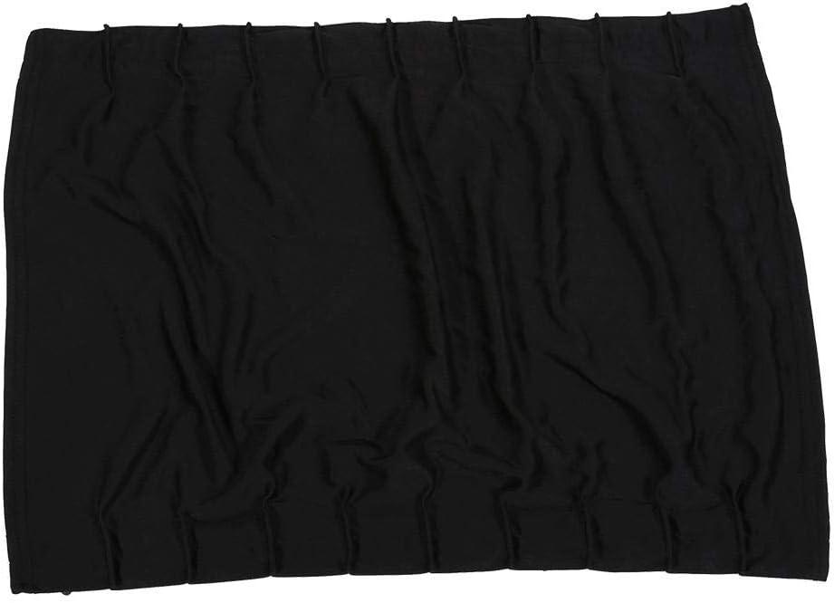 Black Car Window Curtain 2 x 50s Car Window Sun Shade Adjustable Windshield Sunshade Drape Visor Valance Curtain UV Protection for Baby and Family