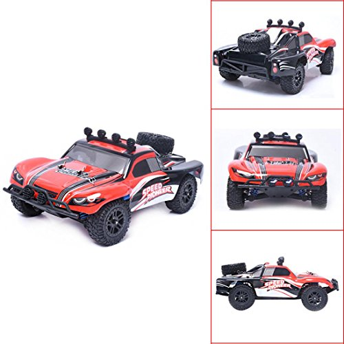 Kanzd 1:18 High Speed RC Racing Car 4WD Remote Control Truck Off-Road Buggy SUV (Red)