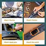 MUSCCCM-Kit-per-riparazione-per-pneumatici-di-bicicletta-19-pezzi-leggero-adatto-per-la-riparazione-di-pneumatici-di-biciclette-e-moto