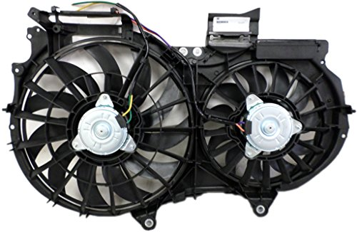 Dual Radiator and Condenser Fan Assembly - Cooling Direct 8E0959455N 02-06 Audi A4/S4 3.0L 05-08 3.2L (Audi A4 Quattro Cooling)