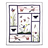 Patch Magic 50-Inch by 60-Inch Butterfly Kisses Throw