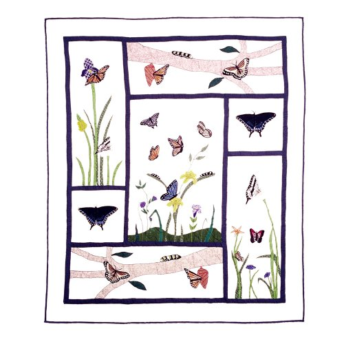 Patch Magic 50-Inch by 60-Inch Butterfly Kisses ()