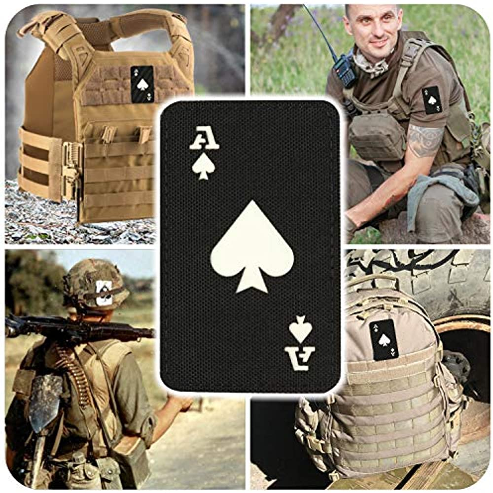 M-Tac Ace Of Spades Death Card Tactical Morale Patch Army