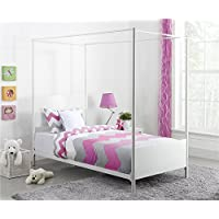 DHP Canopy Twin Metal Bed in White