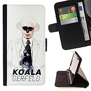 - Koala Funny Gerfeld Fashion Designer - Estilo PU billetera de cuero del soporte del tir???¡¯????n [solapa de cierre] Cubierta- For Sony Xperia Z3 D6603 £š Devil Case £©