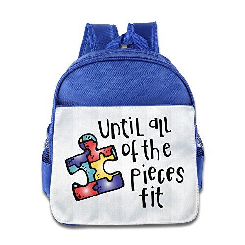 Price comparison product image OurLove Until All The Pieces Fit Boy Bags School Size Size Key RoyalBlue