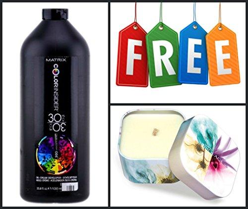 Matrix Color Insider 30 VOL. Oil-Cream Developer 32 OZ + FREE CANDLE