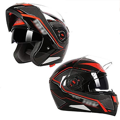 Motorcycle Helmet Flip up Dual Visors Full face Helmet with Removable  Winter Neck Scarf,Flip up Dual Visor Sun Shield -K L