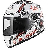 LS2 Helmets Unisex-Child Full Face Helmet (Gloss White, Large) (FF392 Youth Full Face Machine)