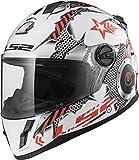 LS2 Helmets Unisex-Child Full Face Helmet (Gloss White, Small)