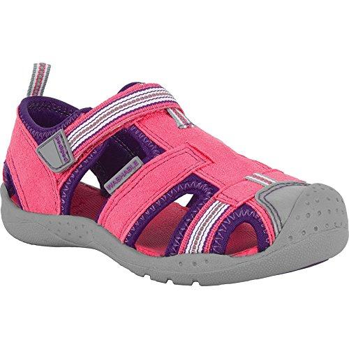 pediped Girls' Sahara Closed Toe Sandals, Pink (Fuschia Lavender), 9 -9.5 M Little    ()