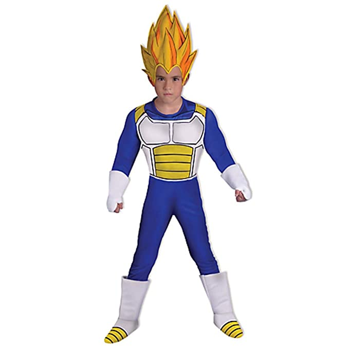 Disfraz O Traje Caroline DE Vegeta Dragon Ball Z para NIÑO  Amazon ... 35b258b8921b