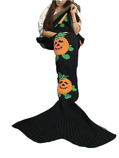 WXJ Sirena Cola Dibujos animados Lana Para hacer punto Sofá Aire acondicionado Mantas , black