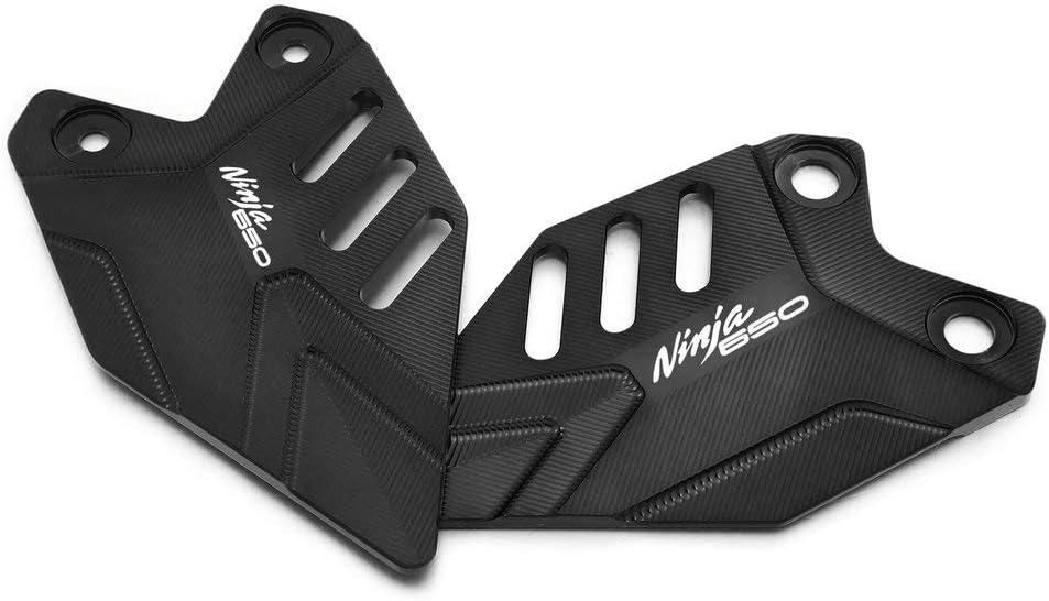 Ninja650 Logo Titan 2020 QIDIAN Motorrad CNC Fu/ßst/ütze hinten Mount Fersenschutz Platten Abdeckung Pedal Fl/ügel Halterung Protector f/ür Ninja 650 Z650 2017